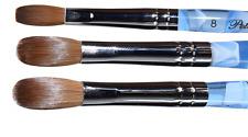 Blue Marble Petal Kolinsky Acrylic Manicure Powder Nail Brush (Crimped)