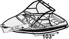 """STYLED TO FIT COVER for TOURNAMENT SKI BOAT 19'6""""-20'6"""" 92""""B W/STANDARD TOWER IB"""