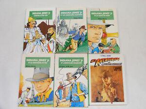 Lot de 6 livres INDIANA JONES Jr Junior Bibliotheque verte Hachette 90's vintage