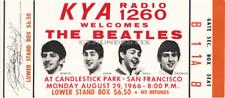 1  BEATLES VINTAGE UNUSED FULL CONCERT TICKET 1966 Candlestick Park laminated or