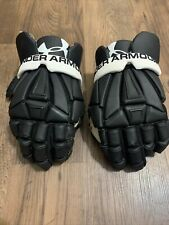 Under Armour Padded Lacrosse Gloves Large Black Gear