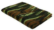 """Camo Fleece Blanket Warm Winter Blanket Woodland 60"""" X 80"""" Rothco 10269"""