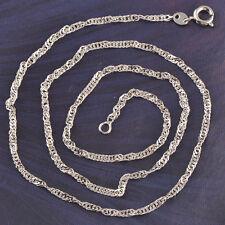 9K White Gold Filled Fashion  Unisex Twist Water Wave Chain Necklaces C566