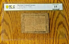 1776 Two Dollars-Maryland-Colonial Currency-FR.MD-98 PCGS CHOICE FINE 15 DETAILS