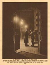 Scotland Yard, Embankment entrance. Police officers 1926 old vintage print