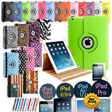 360 Folio Funda y base giratoria de cuero para Apple iPad Mini 2 3 4 Air Pro