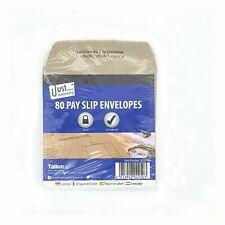 80 Pack Wage Pay Slip Brown Envelopes Payslip Self Seal Printed