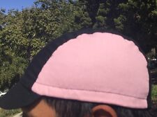 CYCLING CAP ONE SIZE HANDMADE IN USA BLACK& PINK 100% COTTON