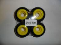 TURBO SKATEBOARD WHEELS - BLACK/YELLOW - SET OF 4 WHEELS - BRAND NEW