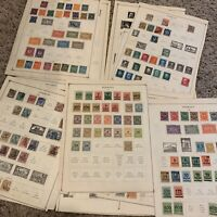 GERMANY WURTTEMBURG BAVARIA INFLATION STAMPS LOT ON ALBUM PAGES