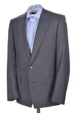 BIJAN Solid Gray Twextured 100% Wool Mens Blazer Sport Coat Jacket - 38 R