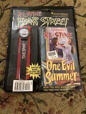 Vintage 90s 1994 R.L. Stine FEAR STREET Watch + Book SEALED on Card! Goosebumps