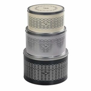 Set of 3 Tala Metal Round Cake Biscuit Cookie Storage Tins Boxes Canisters