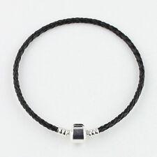 Leather Brass Silver European Charm Bracelet 17cm 18cm 19cm 20cm 21cm 22cm 23cm