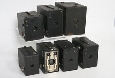 Seven antique cameras - Box Camera Collection - kodak, Ray, Ansco