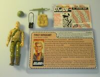 *Flag Sticker* Lot 1983 GI Joe Duke v1 Figure Mail Away Uncut File Card Complete