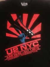OFFICIAL U2 NEW YORK EVENT TSHIRT SIZE XL JUNE 2018 EXPERIENCE + INNOCENCE SHIRT