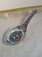 Asian Kitchen Bone China Spoon Rest Hand Painted From Japan Souvenir 9''