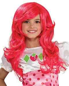 Strawberry Shortcake Wig Pink Mermaid Ariel Child Halloween Costume Accessory