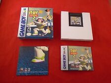 Toy Story 2 (Nintendo Game Boy Color, 1999) COMPLETE w/ Box manual POSTER game
