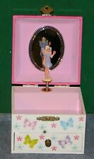 Vintage Fairy Princess Musical Jewelry Trinket Box - Plays Well