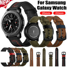 For Samsung Galaxy Watch 46mm 42mm Gear S2 S3 Leather Bracelet Strap Wrist Band