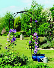 Metal Garden Arch Climbing Plants Tubular Rose Patio Gateway Sturdy Heavy Duty