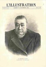 Paul Kruger Président de la République sud-africaine du Transvaal GRAVURE 1900