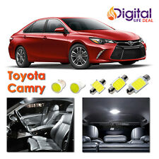 10x White CREE COB LED Interior Lights Package for 2007 - 2016 2017 Toyota Camry
