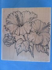 HAWAIIAN HIBISCUS Rubber Stamp TROPICAL FLOWER