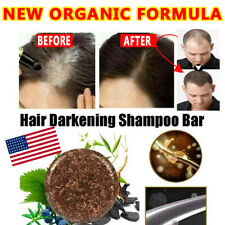 NEW+++ Organic Hair Darkening Shampoo Bar Conditioner Repair Care Restores COLOR