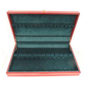 Vintage Tarnish Resistant Wood Silverware Flatware Wooden Storage Chest Box 95