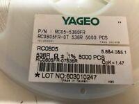 s 2000 Item YAGEO America RC0805FR-0712KL RC Series 0805 0.125 W 12 kOhms 1/% 100 ppm///°C SMT Thick Film Chip Resistor