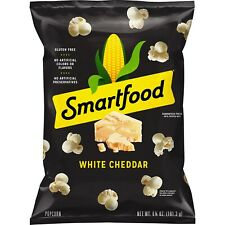 NEW SMARTFOOD POPCORN WHITE CHEDDAR CHEESE FLAVORED 100% WHOLE GRAIN 6.75 OZ BAG