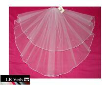 Crystal Wedding Veil Any Length Or Colour 2 Tier Diamante Edge LBV145 LBVeils UK