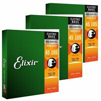 Elixir Medium Electric Bass Guitar Strings 45 - 105 Long Scale long life 14077