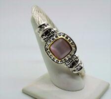 B332 Gorgeous chic Style Silver cable Lt.purple cat eye Magnetic Clasp Bracelet