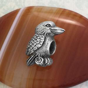 Kookaburra Pewter Bead Charm, Australian Made