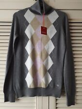 Ladies esprit grey size xs (approx size 8) polo jumper