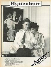 PUBLICITE ADVERTISING 124  1981  ARROW   chemises homme