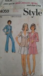 Vintage STYLE Sewing Pattern 4059 MISSES' JACKET, SKIRT & TROUSERS SZ 10 UNCUT