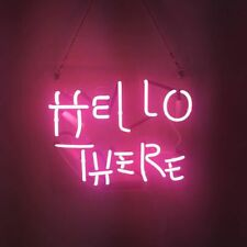 New Hello There Pink Bar Beer Pub Acrylic Neon Light Sign 14""
