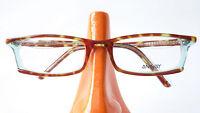 Fassung Brille Gestell schmal Damen Hornoptik braun Kunststoff Rahmen Gr M