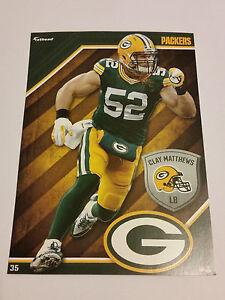 2015 Clay Matthews Green Bay Packers NFL Fathead Tradeables Football