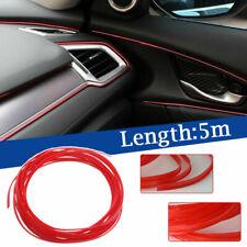 5M Car Interior Decor Accessory Red Point Edge Gap Door Panel Molding Line Trim
