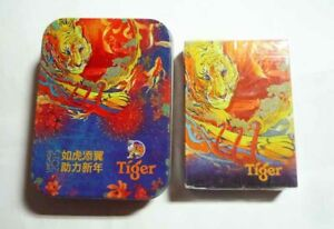 MALAYSIA Playing Cards TIGER BEER Uncage Prosperity Chinese New Year 2015 Box