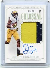 2015 NATIONAL TREASURES #311 DEVIN FUNCHESS AUTOGRAPH PATCH RC #17/25, MICHIGAN