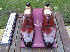 VT723 - Vass BUDAPEST OXFORD - Red Cognac Calf - EU 43.5 - US 10.5 - U Last