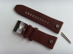 DIESEL Original Ersatzband Lederarmband DZ7314 Uhrband braun watch strap 28 mm