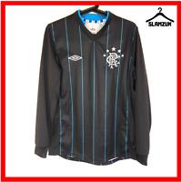 Glasgow Rangers Football Training Top Umbro S Small Black Away Soccer 2012 2013